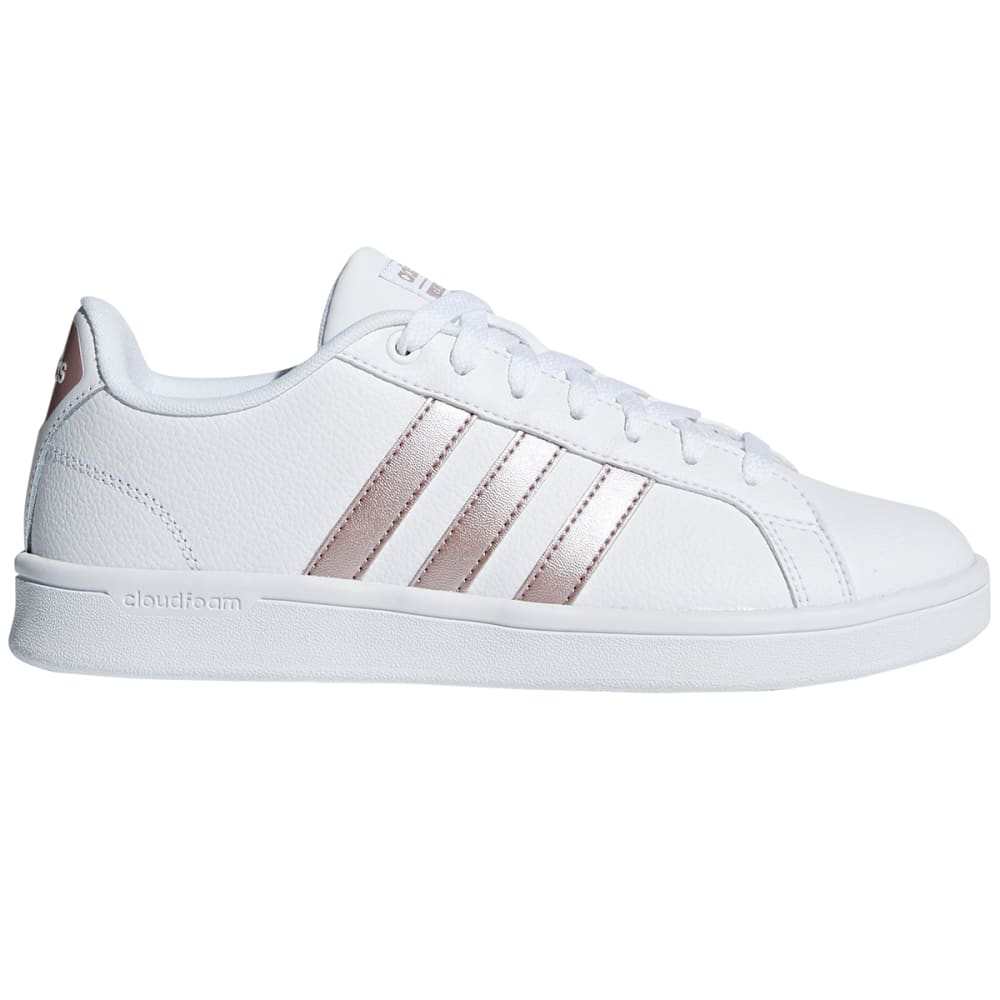 Adidas Women's Cloudfoam Advantage Sneakers - White, 6