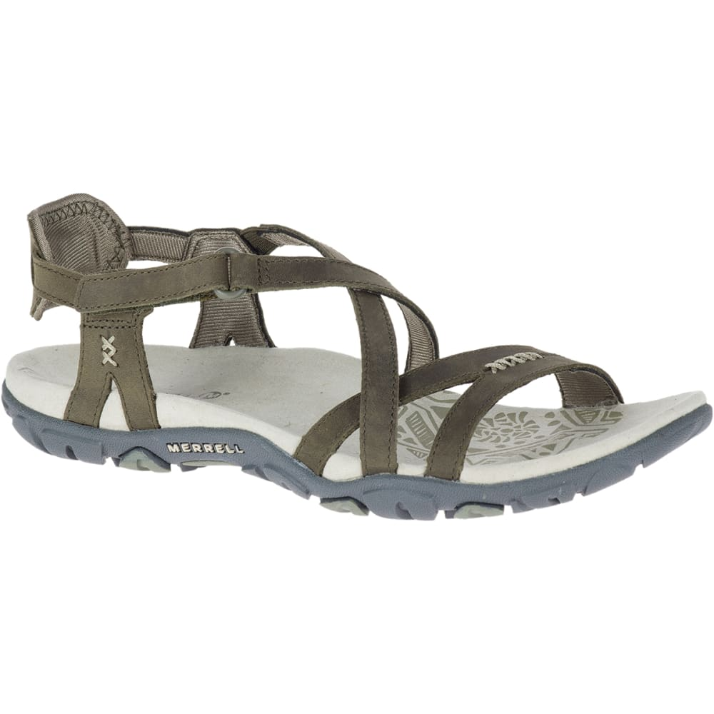 Merrell Women's Sandspur Rose Leather Sandals - Green, 9