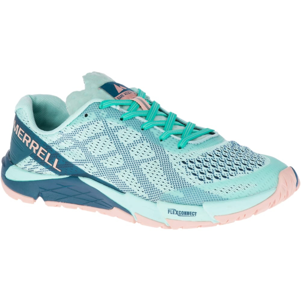 Merrell Women's Bare Access Flex E-Mesh Trail Running Shoes - Blue, 6.5