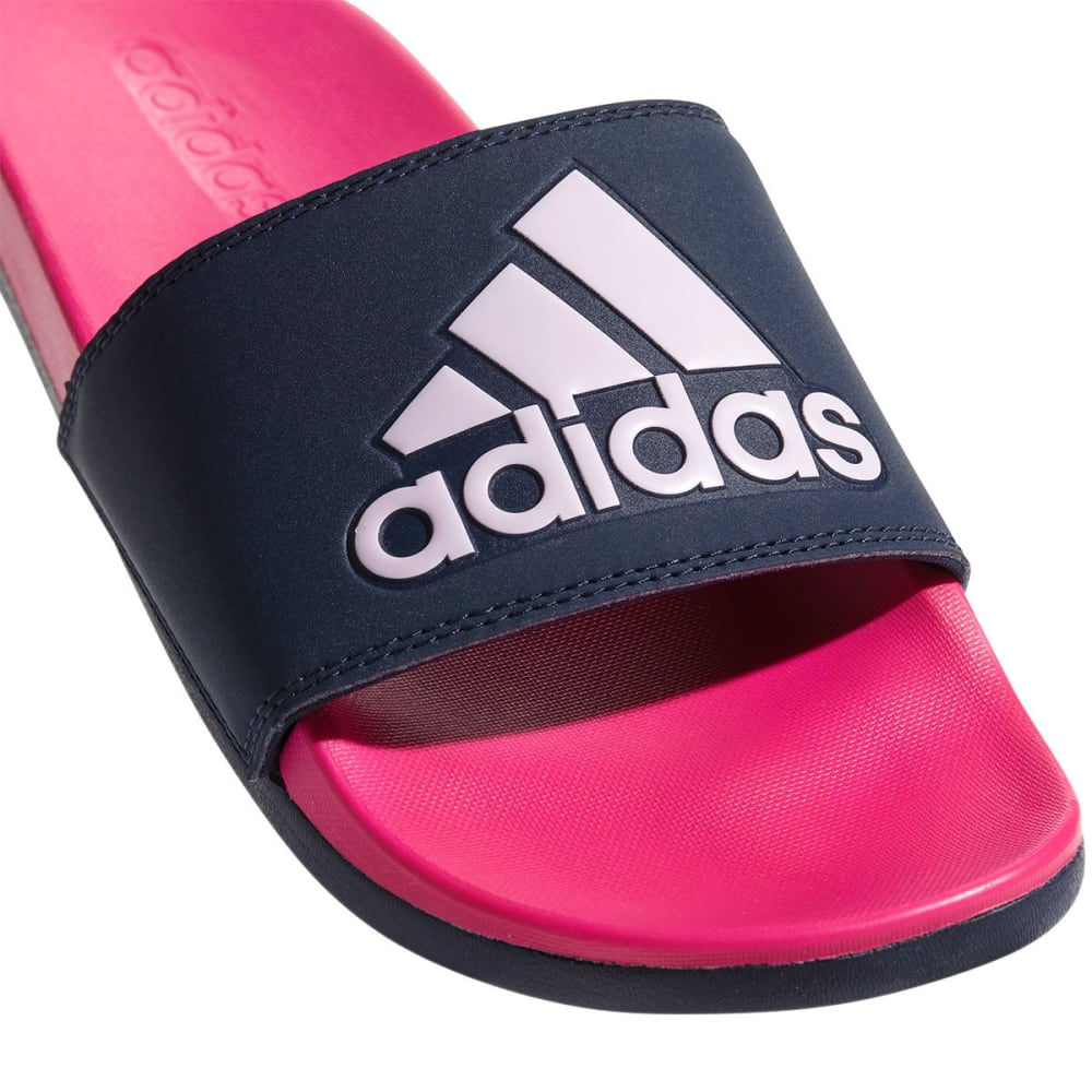 ADIDAS Women's Adilette Cloudfoam Plus Logo Slides - NAVY