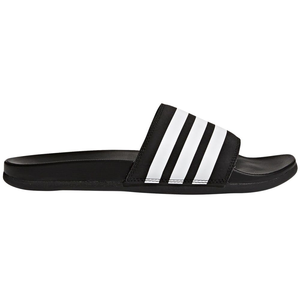 Adidas Men's Adilette Cloudfoam Plus Adjustable Slides - Black, 8