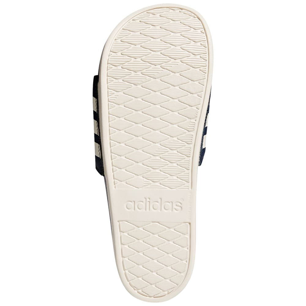 ADIDAS Men's Adilette Cloudfoam Plus Stripes Slides - NAVY