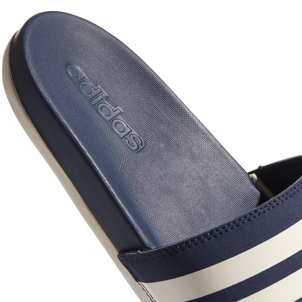 ADIDAS Men's Adilette Cloudfoam Plus Stripes Slides - NAVY