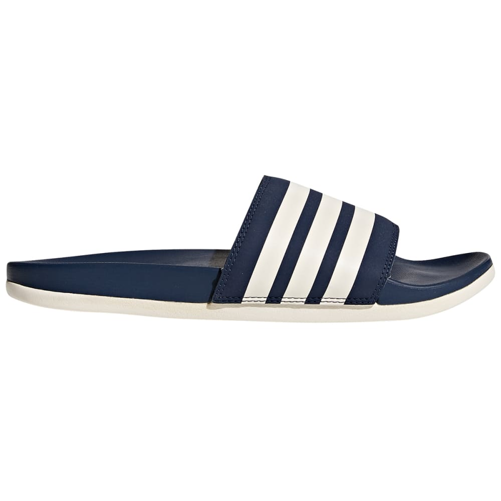 Adidas Men's Adilette Cloudfoam Plus Stripes Slides - Blue, 8