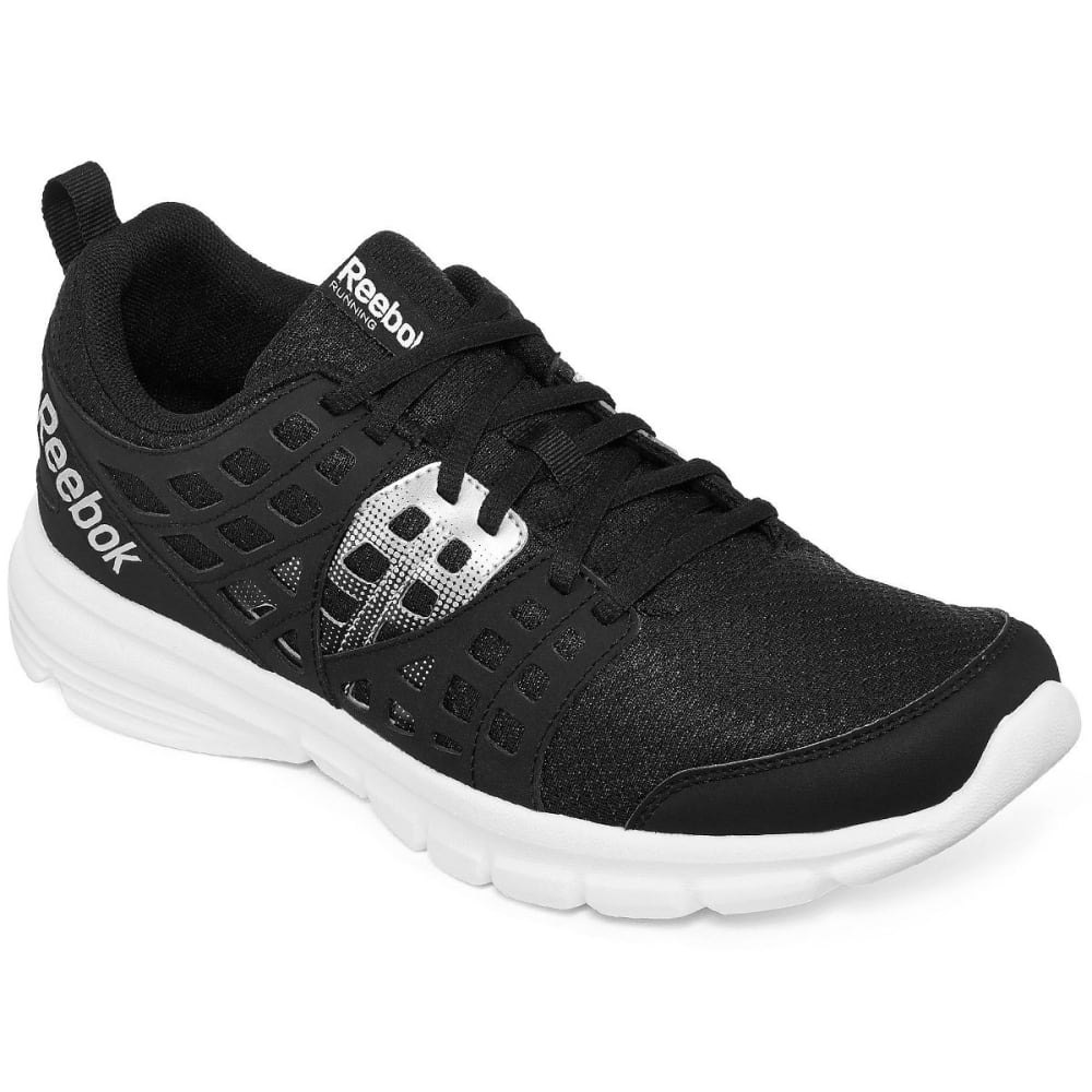 REEBOK Men's Speed Rise Running Shoes, Black/White - BLACK
