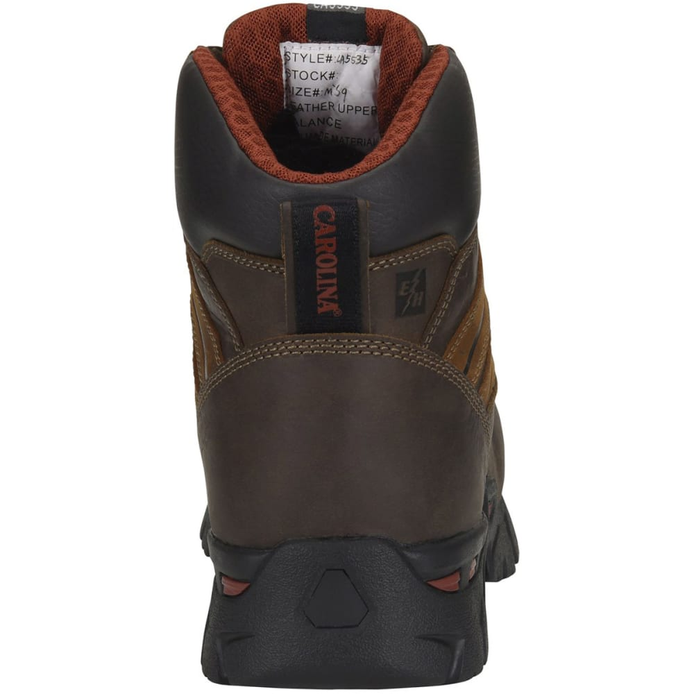 CAROLINA Men's 6 in. Coiler Lo Waterproof Composite Toe Work Boots, Dark Brown - DARK BROWN