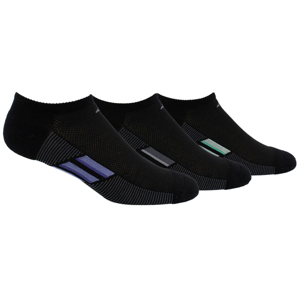 ADIDAS Women's Climacool Superlite Stripe No-Show Socks, 3-Pack M