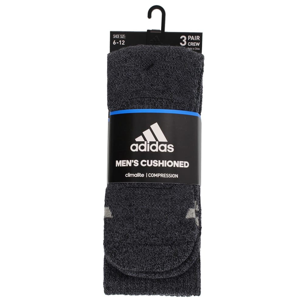 ADIDAS Men's Cushioned Color Crew Socks, 3-Pack - 5144556A-BLK/ONYX MR