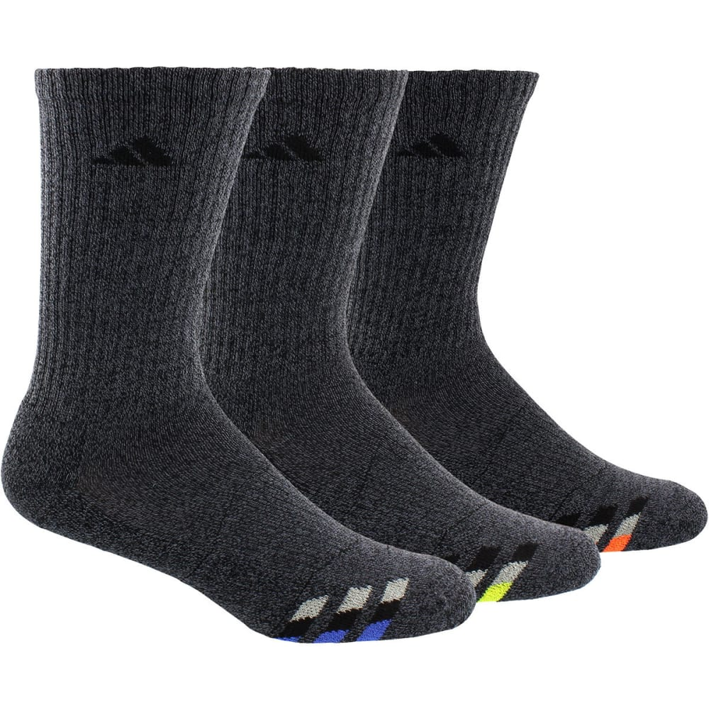 Adidas Men's Cushioned Color Crew Socks, 3-Pack - Black, 10-13