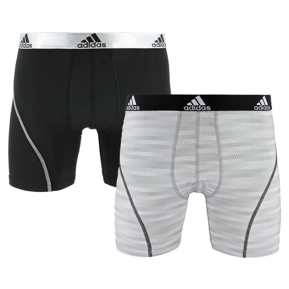 Adidas Men's Sport Performance Climalite Graphic Boxer Briefs, 2-Pack - Black, M