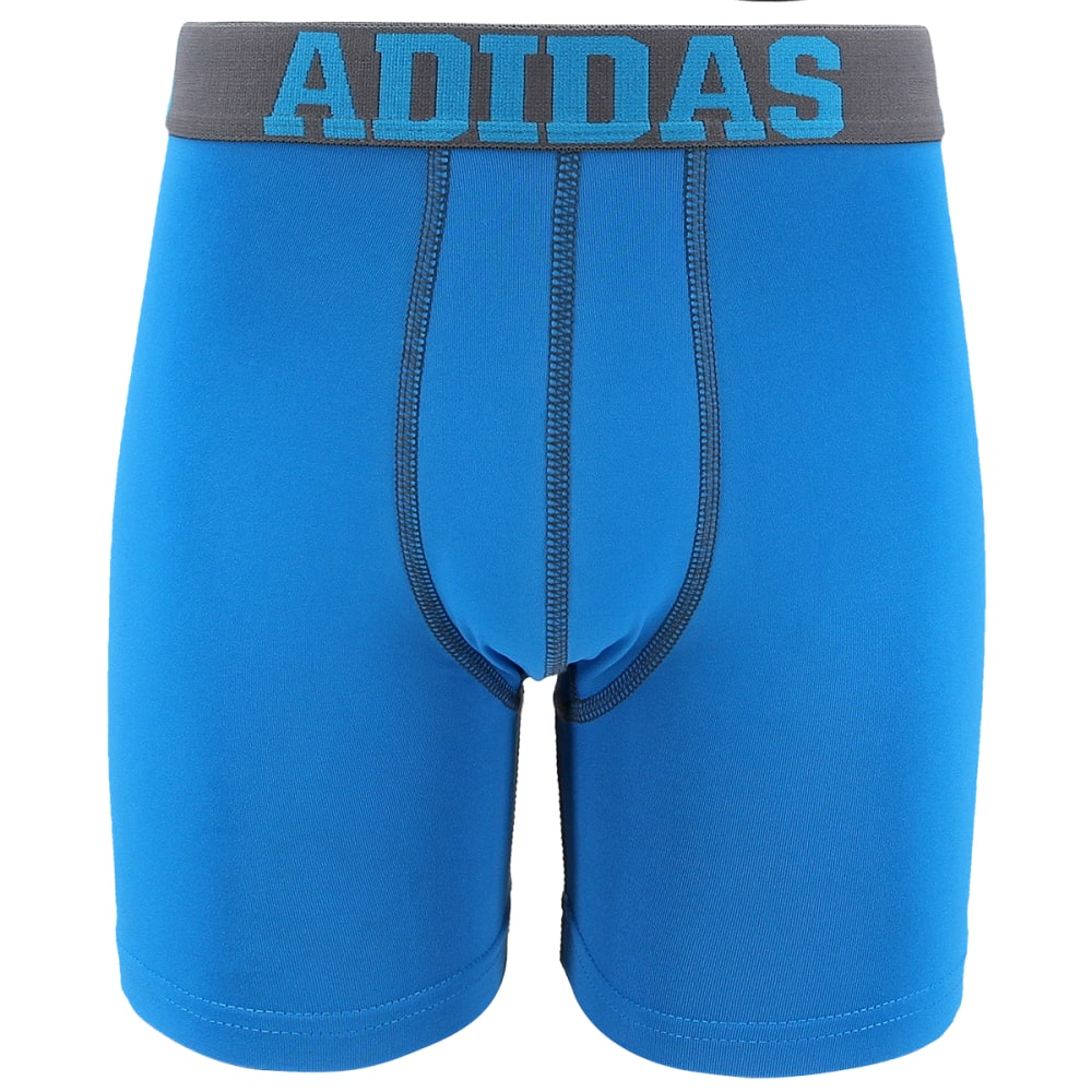 ADIDAS Big Boys' Climalite Boxer Briefs, 2-Pack - ONIX/SOLAR BLUE