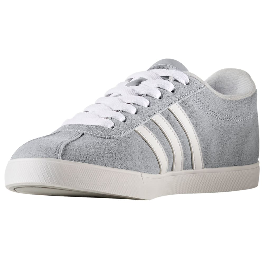ADIDAS Women's Neo Courtset Sneakers, Clear Onix/Running White/Metallic Silver - GREY