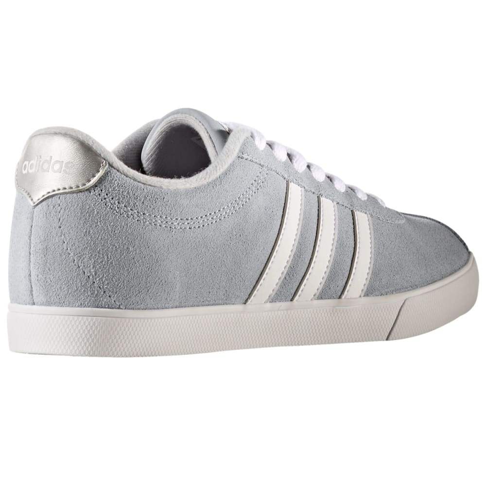 ADIDAS Women's Neo Courtset Sneakers, Clear Onix/Running White/Metallic Silver - GREY