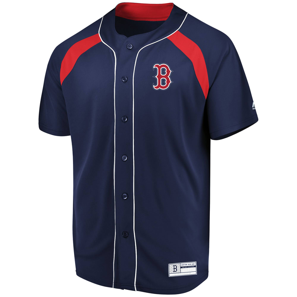 BOSTON RED SOX Men's Train the Body Button Down Jersey - NAVY