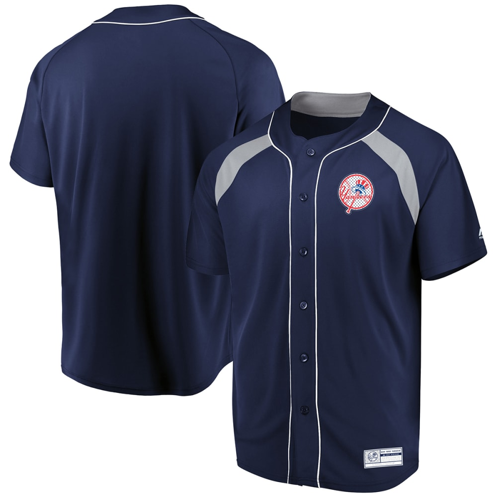 NEW YORK YANKEES Men's Train The Body Button Down Jersey - NAVY