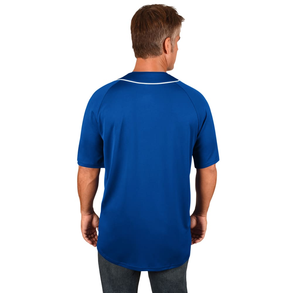 NEW YORK METS Men's Train The Body Button-Down Short-Sleeve Jersey - ROYAL BLUE