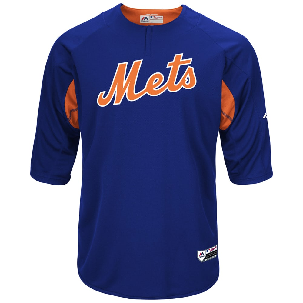 NEW YORK METS Men's Authentic Pre Game Jersey - ROYAL BLUE