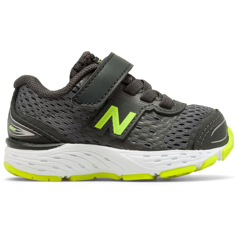 New Balance Toddler Boys' 680V5 Alternate Closure Sneakers - Black, 4
