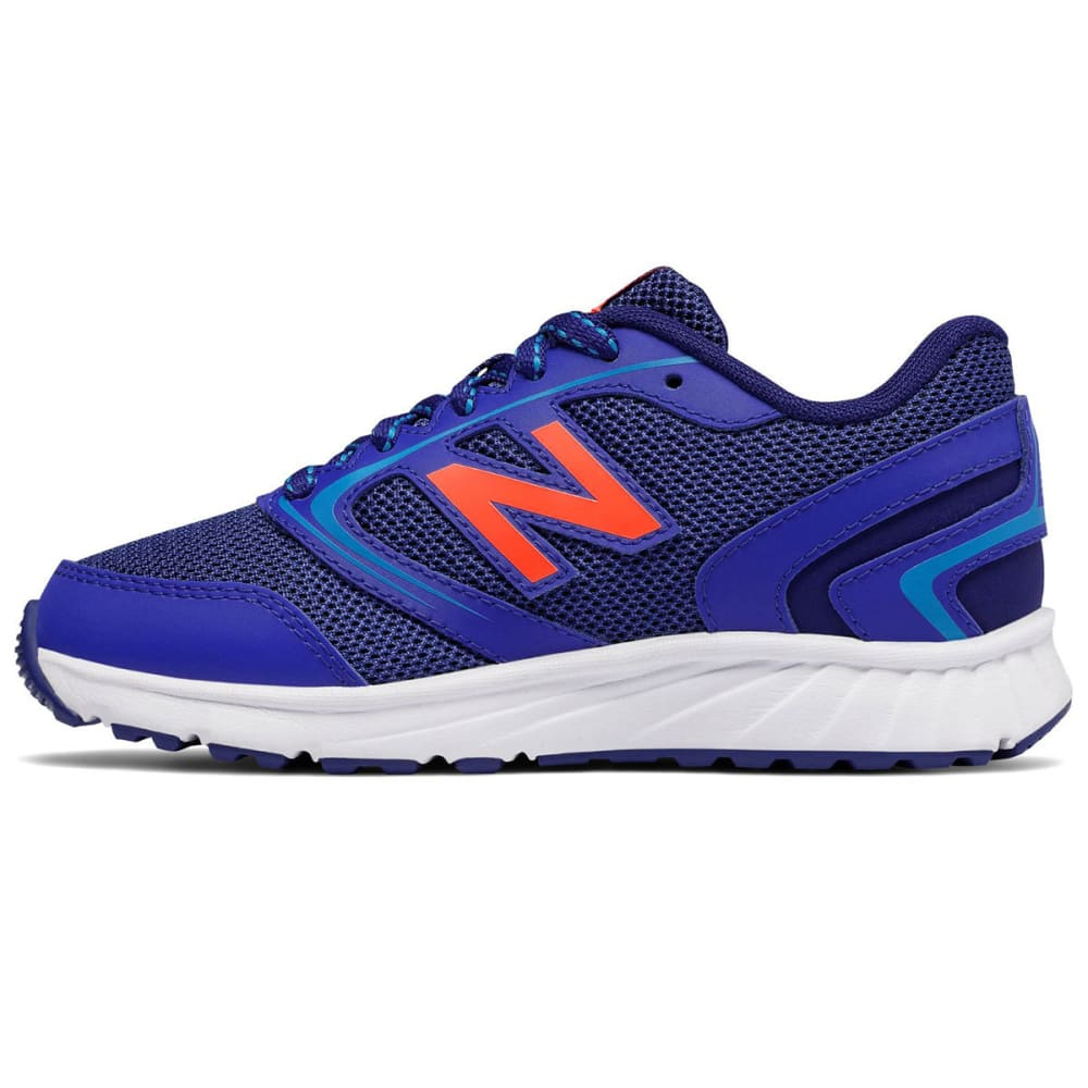 NEW BALANCE Little Boys' 455v1 Running Shoes, Wide - BLUE