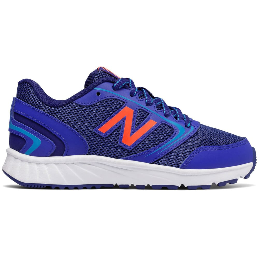 New Balance Little Boys' 455V1 Running Shoes, Wide - Blue, 5