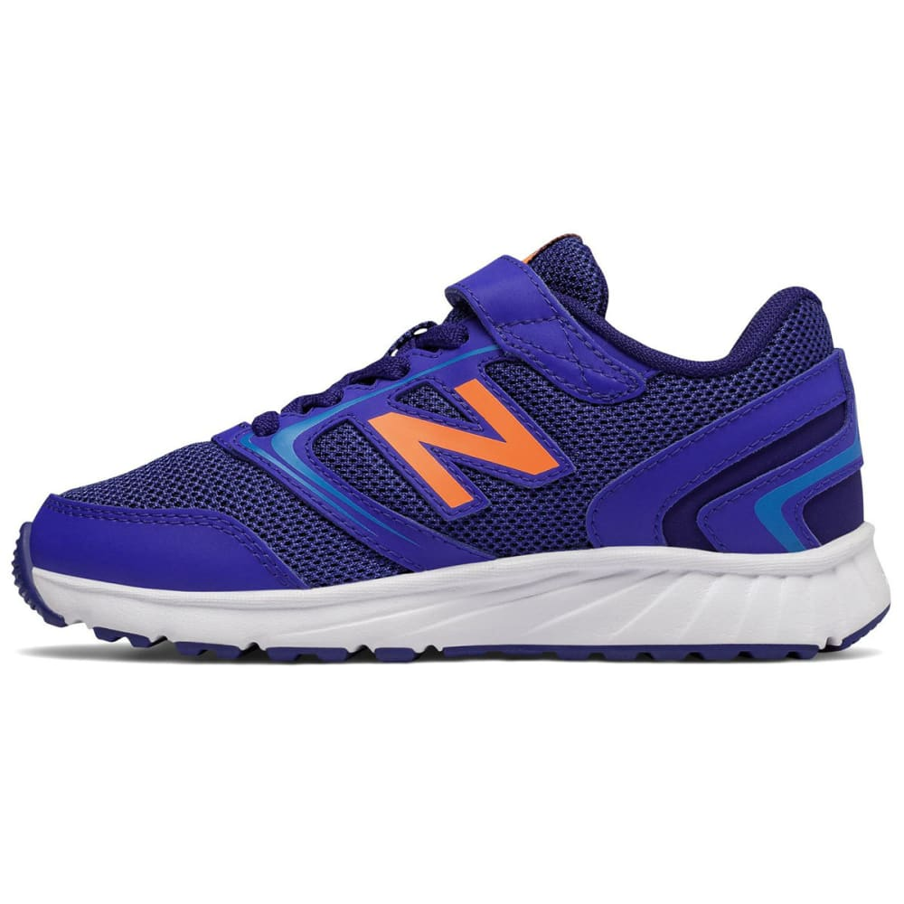 NEW BALANCE Boys' 455v1 Running Shoes, Wide - BLUE