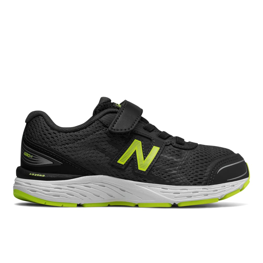 New Balance Little Boys' Preschool 680V5 Alternate Closure Sneakers, Wide - Black, 3