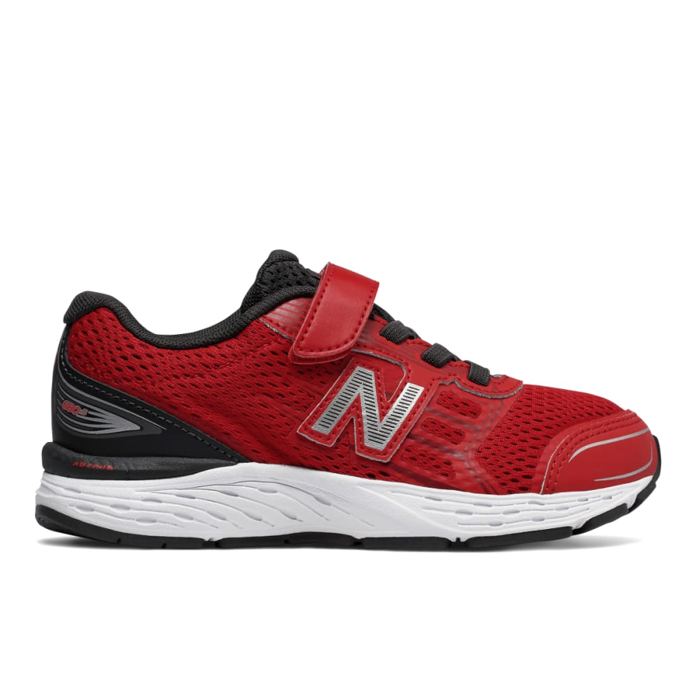 NEW BALANCE Little Boys' Preschool 680v5 Alternate Closure Sneakers, Wide - RED