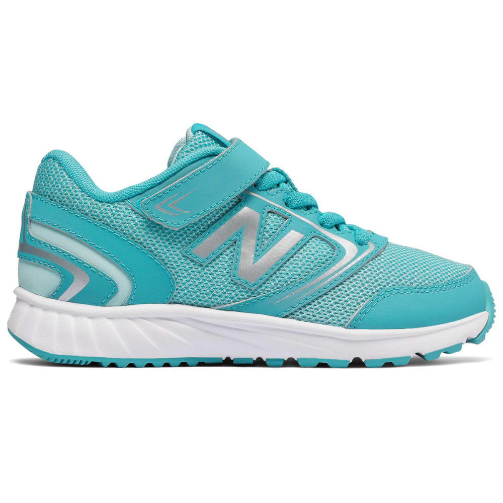 New Balance Little Girls' Preschool 455V1 Alternate Closure Sneakers - Blue, 1