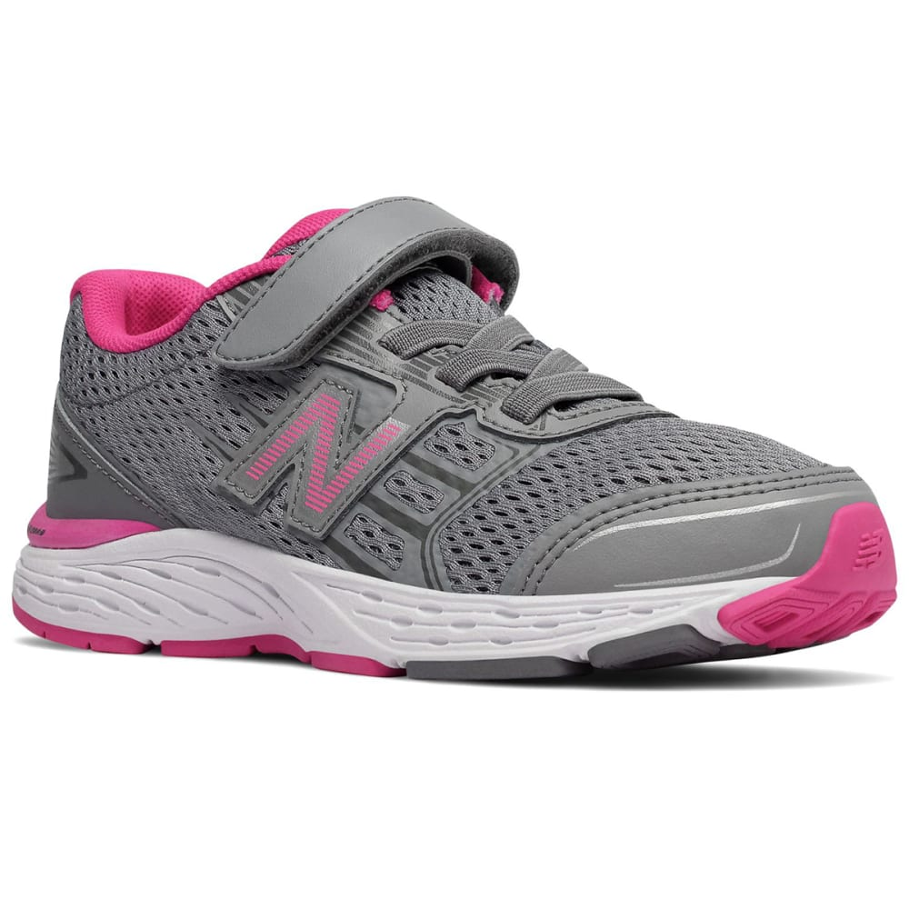 New Balance Little Girls' Preschool 680V5 Alternate Closure Sneakers - Red, 3