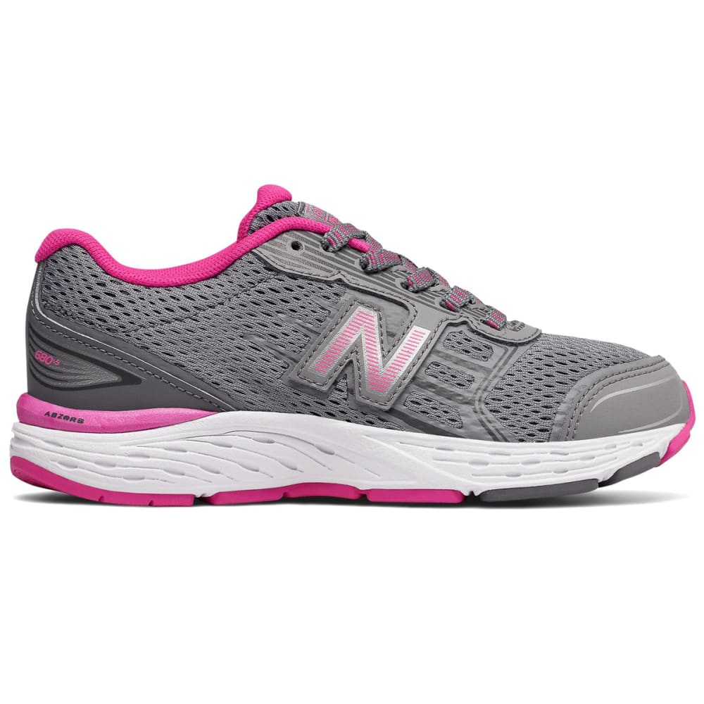 New Balance Girls' 680V5 Sneakers - Red, 4.5