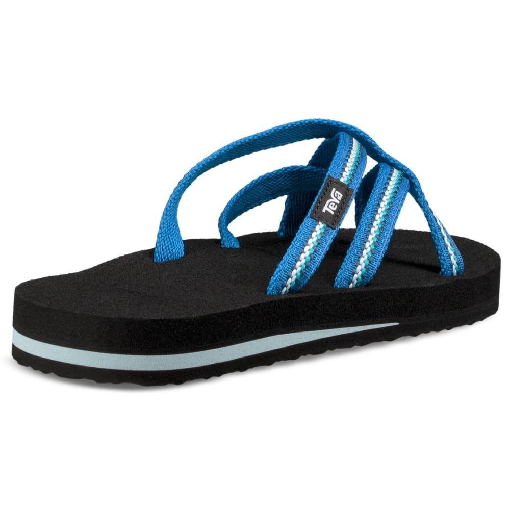 TEVA Women's Olowahu Slide Sandals - LINDI BLUE
