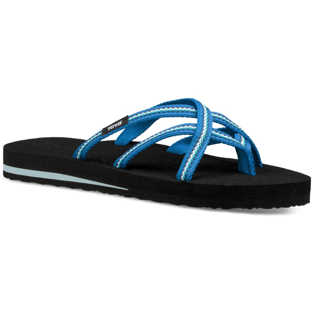 TEVA Women's Olowahu Slide Sandals - LINDI BLUE