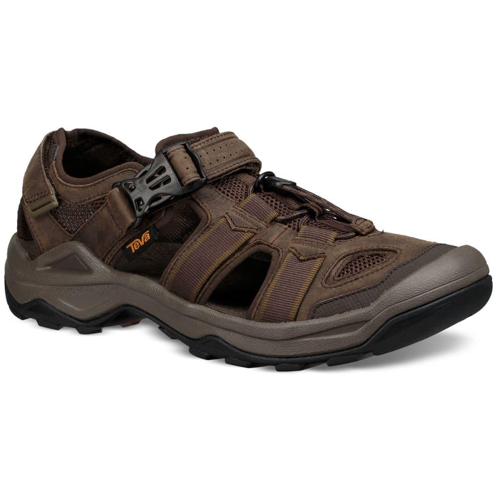 TEVA Men's Omnium 2 Leather Hiking Sandals - TURKISH COFEE