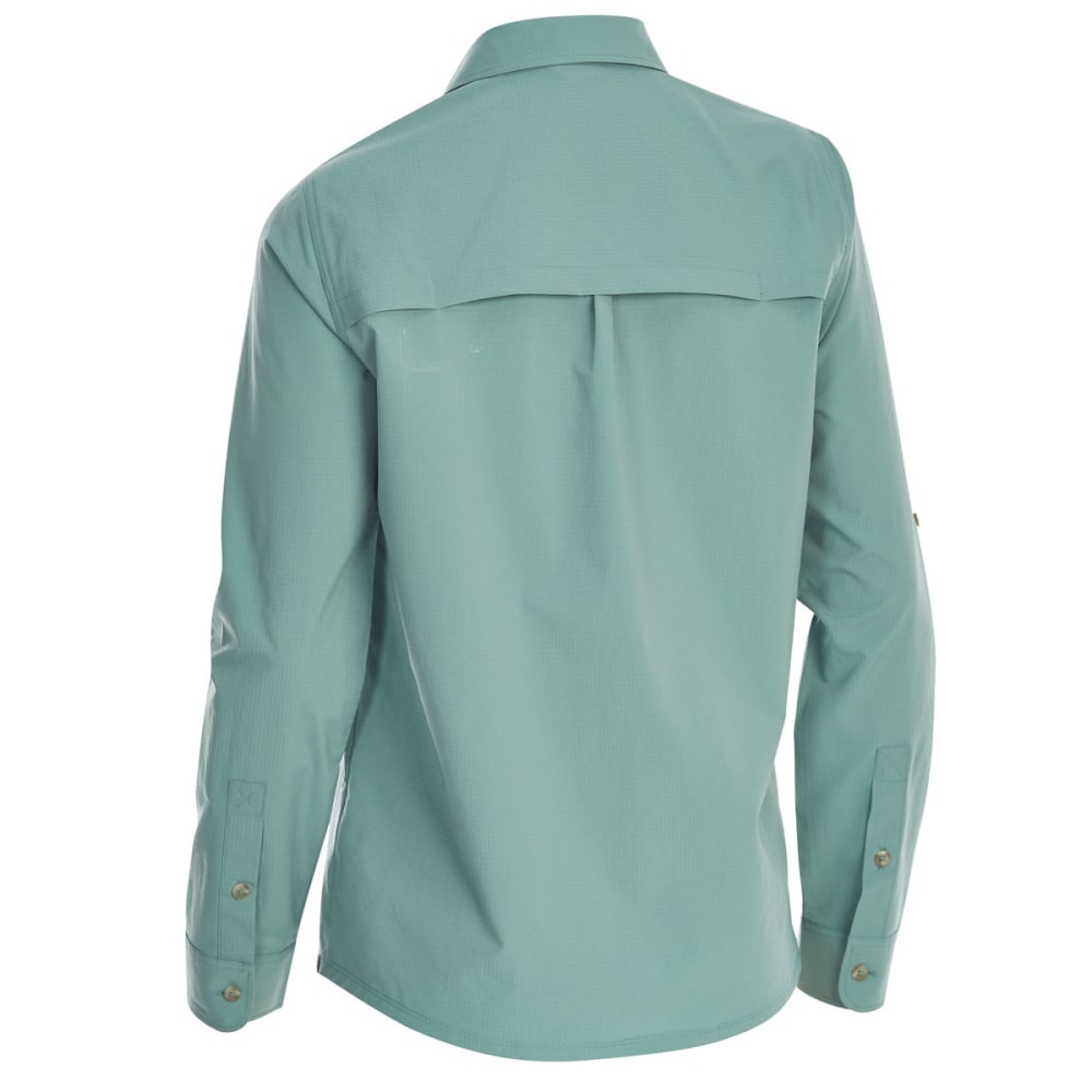 EMS Women's Techwick Traverse UPF Long-Sleeve Shirt - OIL BLUE
