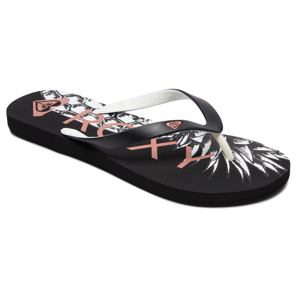 Roxy Women's Tahiti Vi Flip Flops - Black, 10