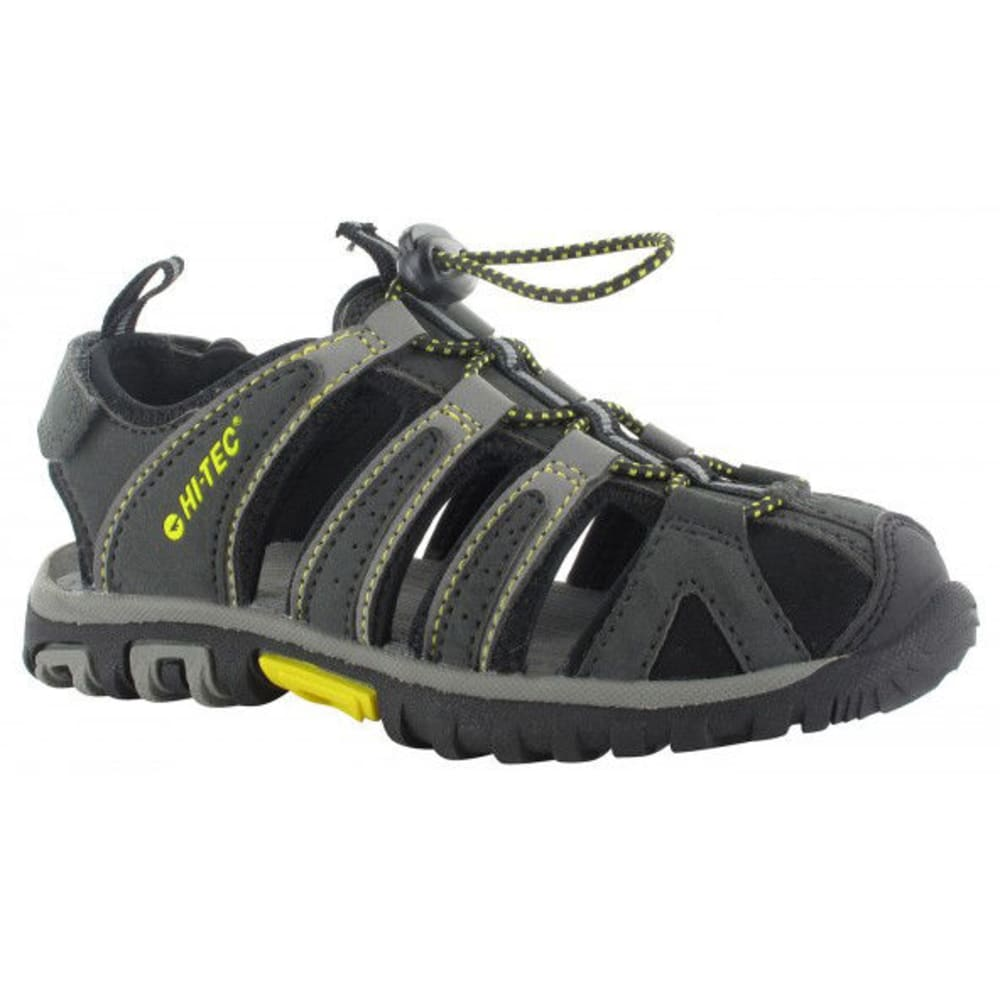 HI-TEC Little Boys' Cove II Sandals - BLK/CHAR/LEMON