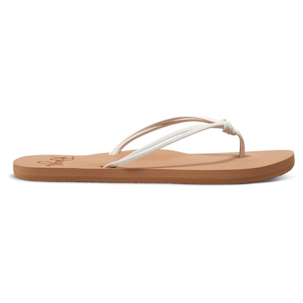ROXY Women's Lahaina Flip Flops - WHITE