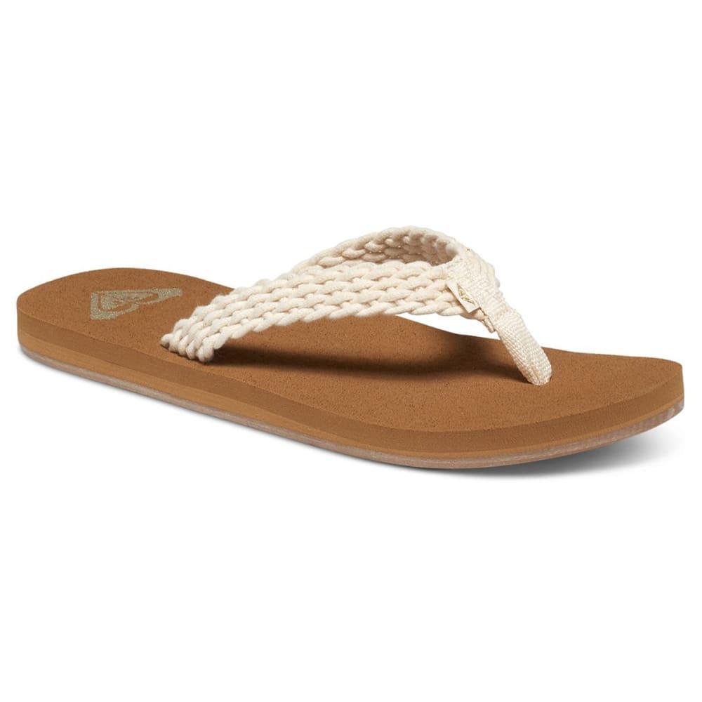 Roxy Women's Porto Ii Sandals - White, 6