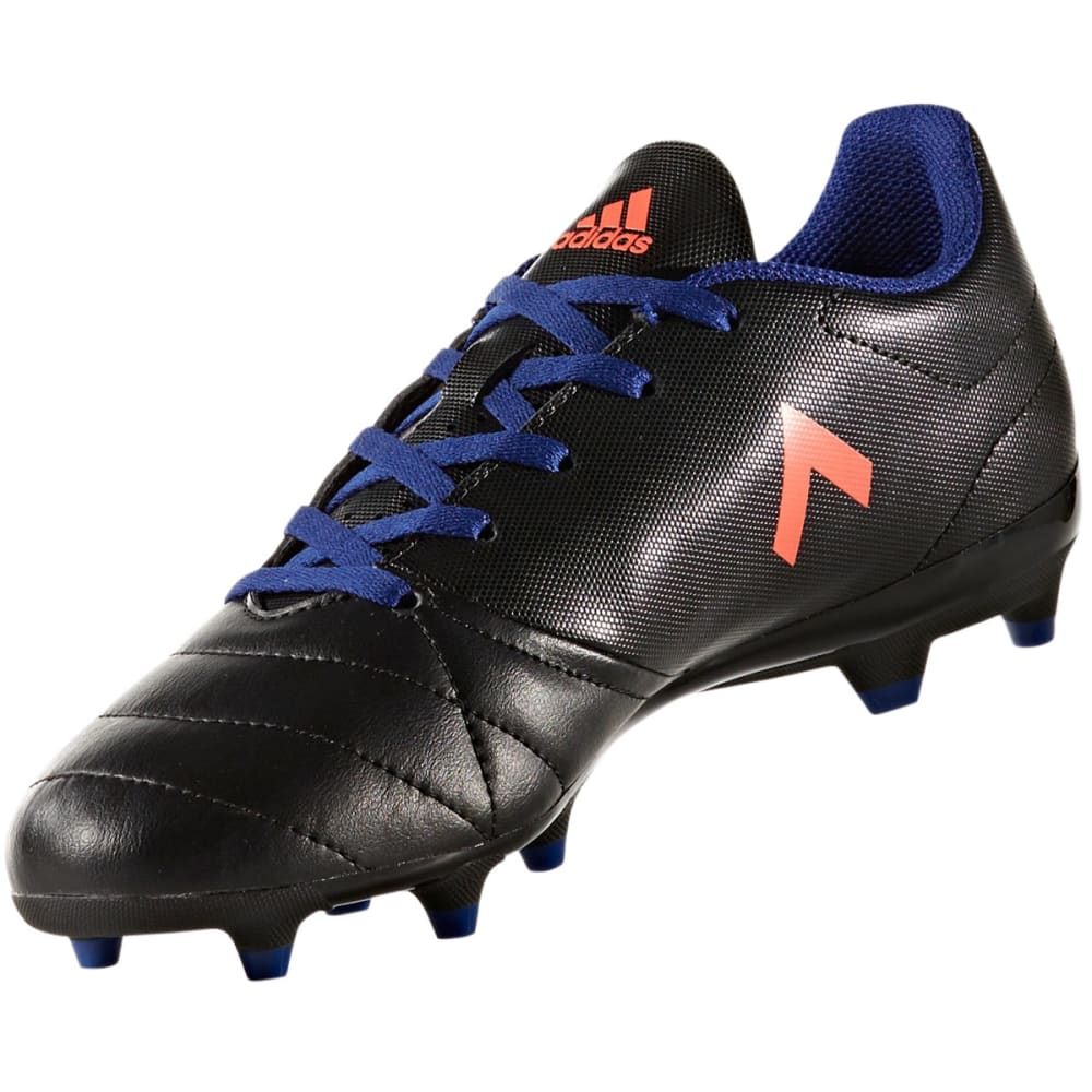 ADIDAS Women's Ace 17.4 Firm Ground Soccer Cleats, Black/Easy Coral/Mystery Ink - BLACK