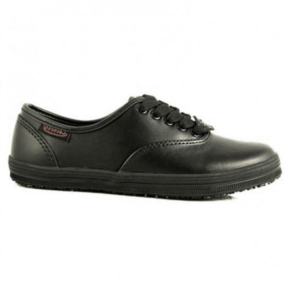 LAFORST Women's Sassy Slip-Resistant Casual Work Shoes, Black 7