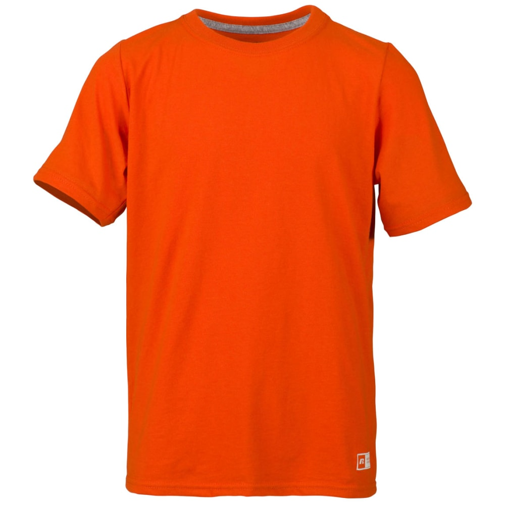 RUSSELL Boys' Essential Short-Sleeve Tee - BURNT ORANGE-BOR