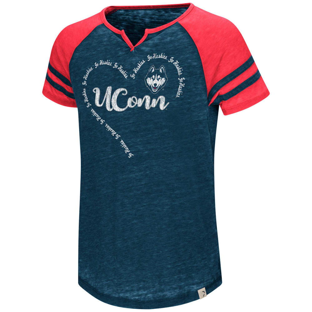 UCONN Girls' The Babe Raglan Short-Sleeve Tee - NAVY