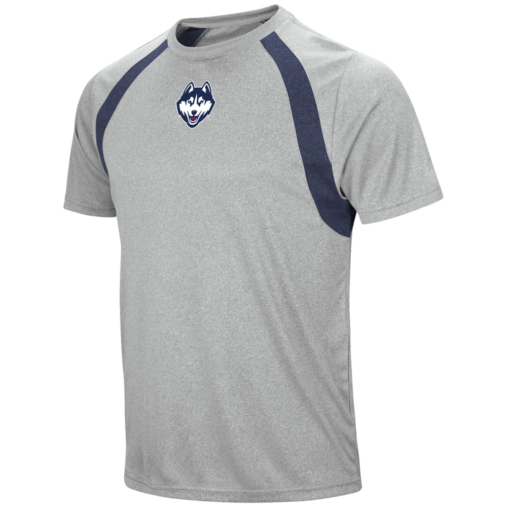 UCONN Men's Rookie Poly Short-Sleeve Tee - gry/navy