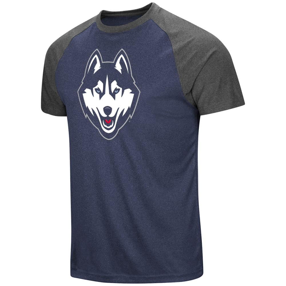 Uconn Men's The Heat Raglan Short-Sleeve Tee - Blue, XL