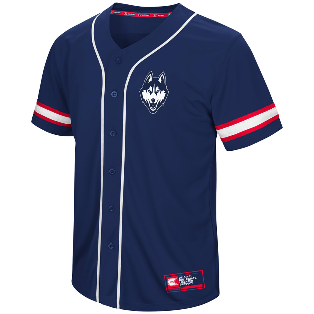 UCONN Men's Play Ball Short-Sleeve Jersey - NAVY
