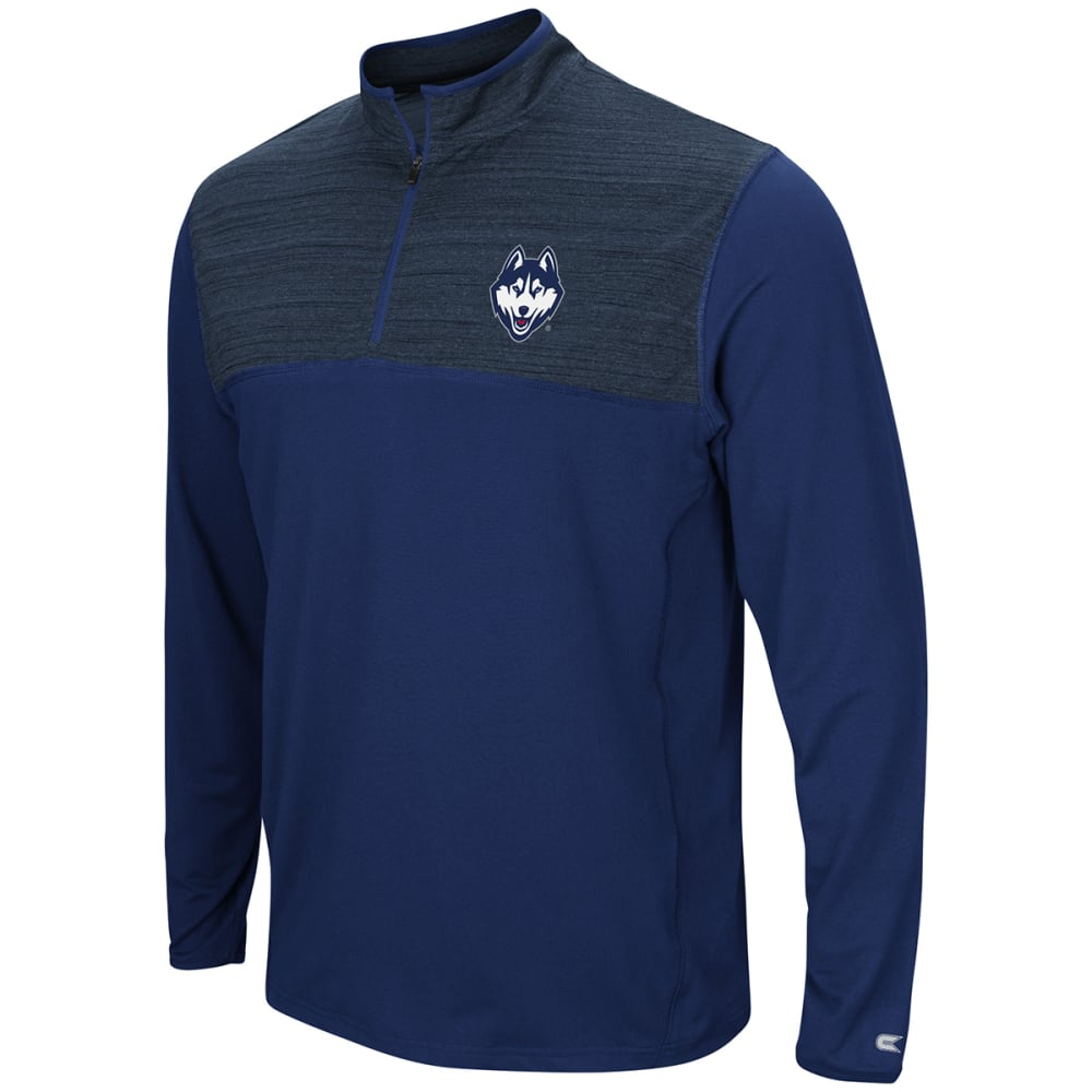 Uconn Men's Savoy  1/4-Zip Windshirt - Blue, M