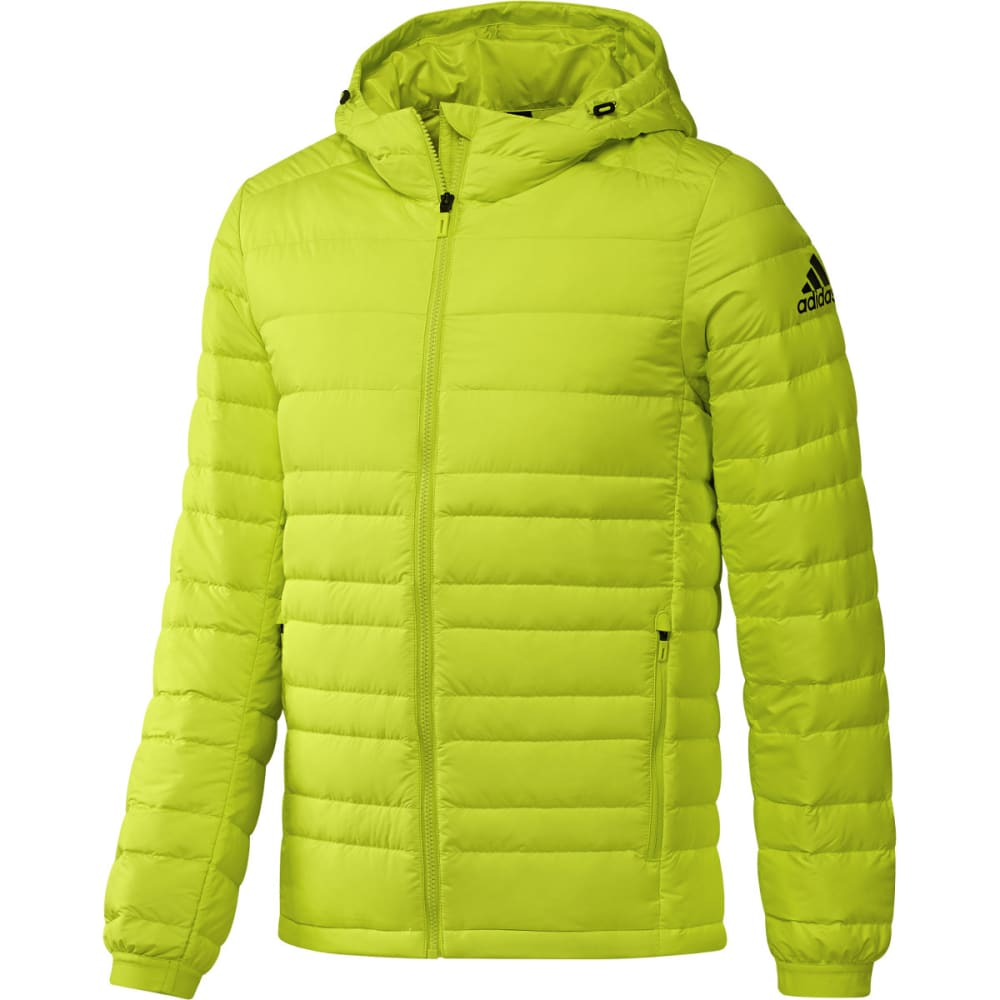 Adidas Men's Climawarm Nuvic Hooded Down Jacket - Yellow, M