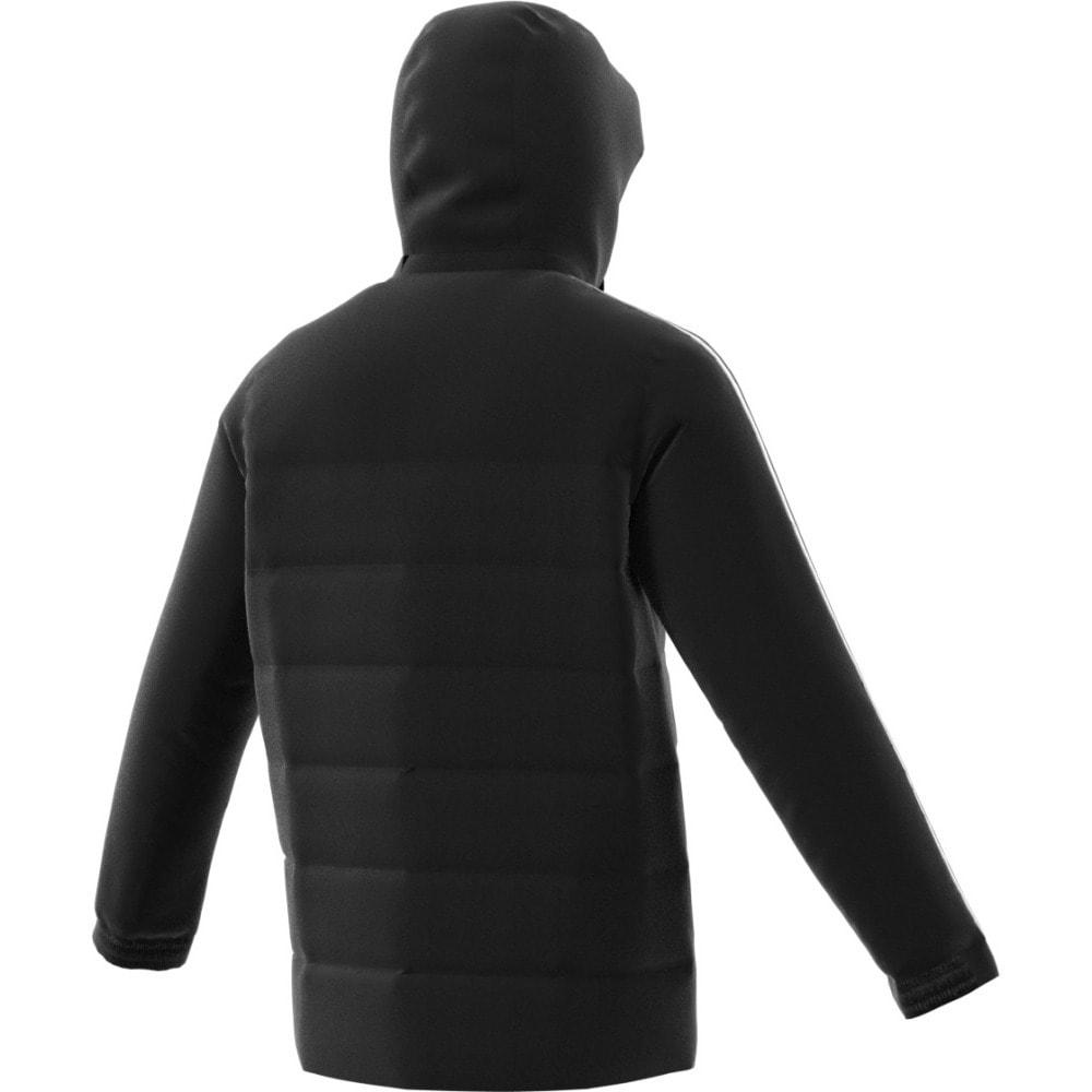 ADIDAS Men's Itavic 3 Stripes Hooded Down Jacket - BLACK/WHITE/WHITE