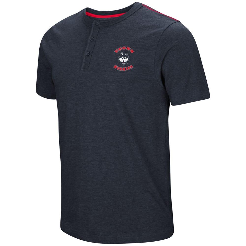 Uconn Men's Bull Durham Short-Sleeve Henley - Blue, M