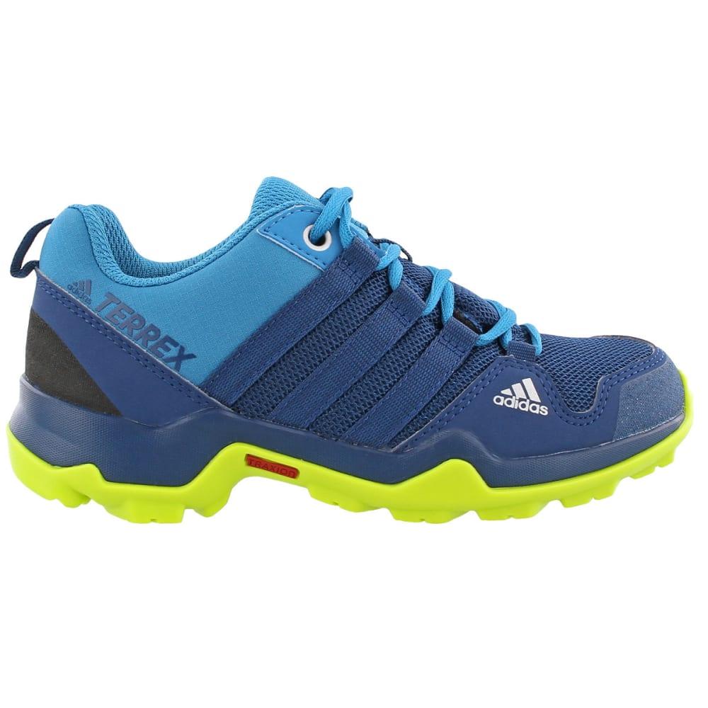 ADIDAS Kid's Terrex AX2R Hiking Shoes, Blue - BLUE/BLUE/YELLOW
